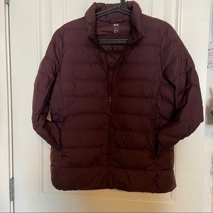 Excellent condition Uniqlo down jacket in purple